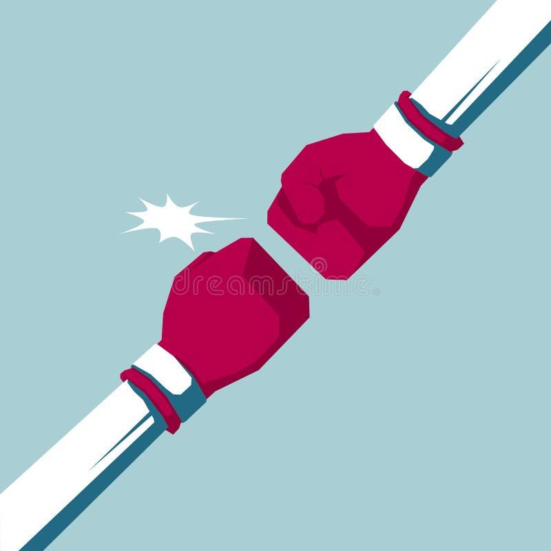 Conception de l'avant-projet de boxe de confrontation illustration de vecteur