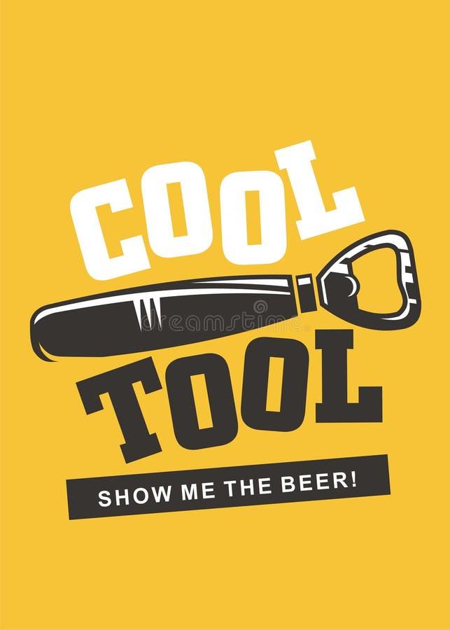 Conception de l'avant-projet créative de bière d'outil frais illustration de vecteur