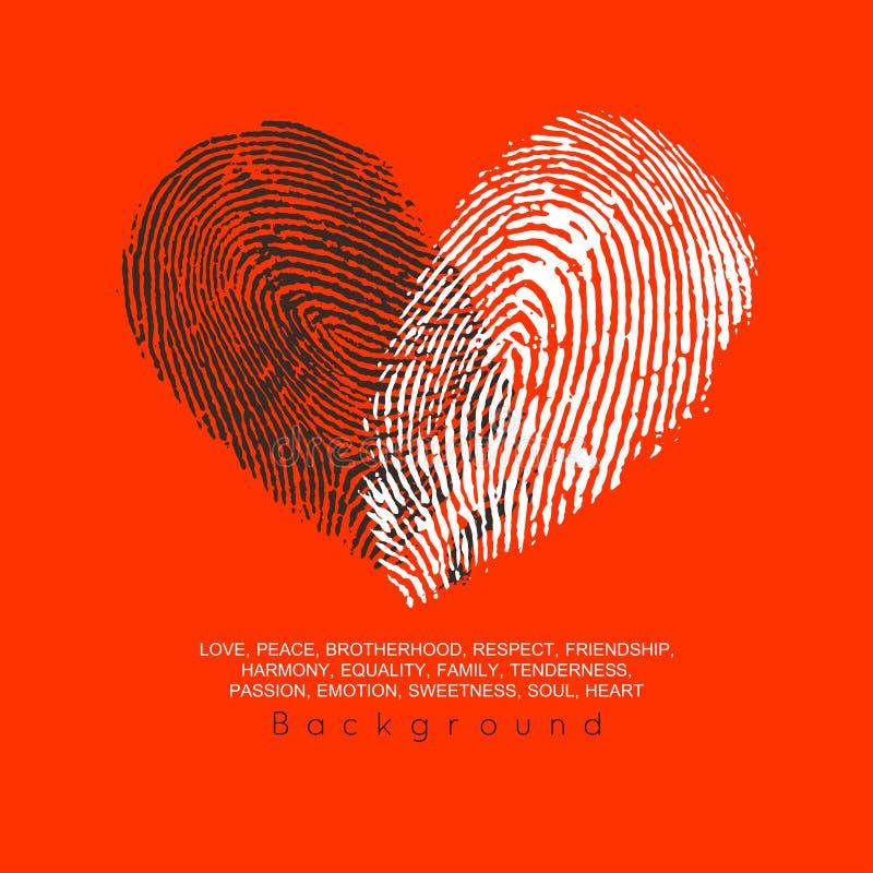 Conception de l'avant-projet de coeur illustration libre de droits
