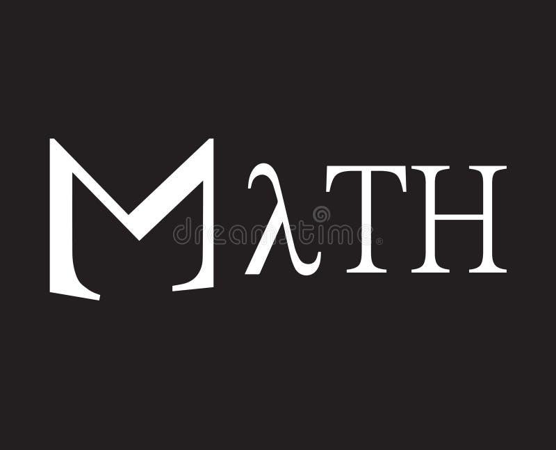 Conception de l'avant-projet de maths illustration libre de droits