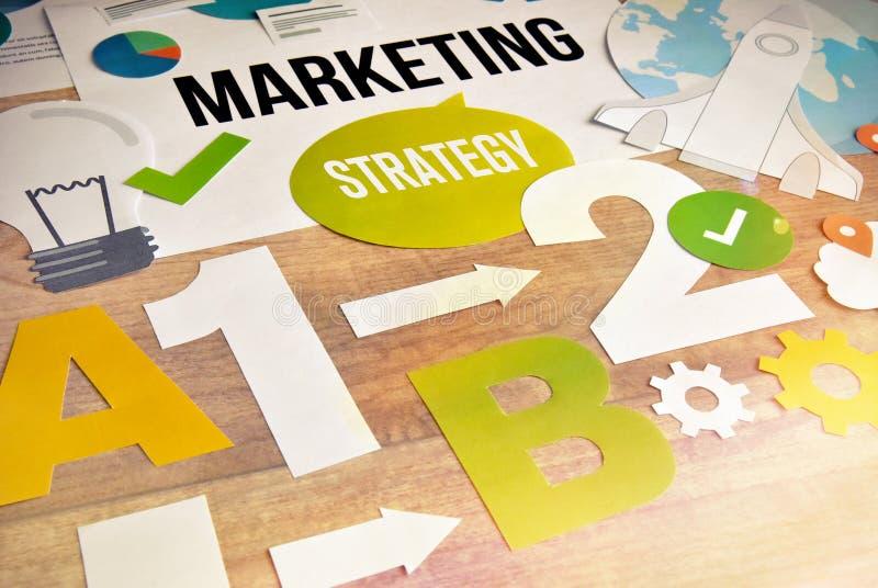 Conception de l'avant-projet de stratégie marketing images stock