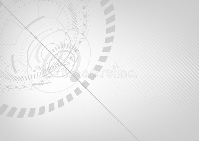 Conception de l'avant-projet futuriste moderne de fond, thème blanc illustration stock