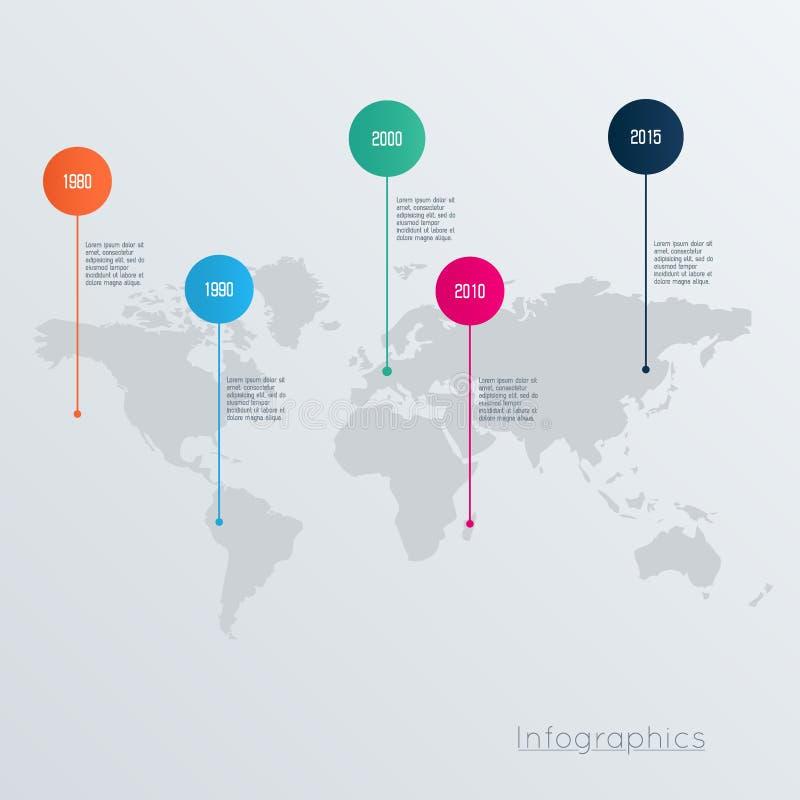 Conception de l'avant-projet géométrique d'infographics d'illustration de carte du monde illustration libre de droits