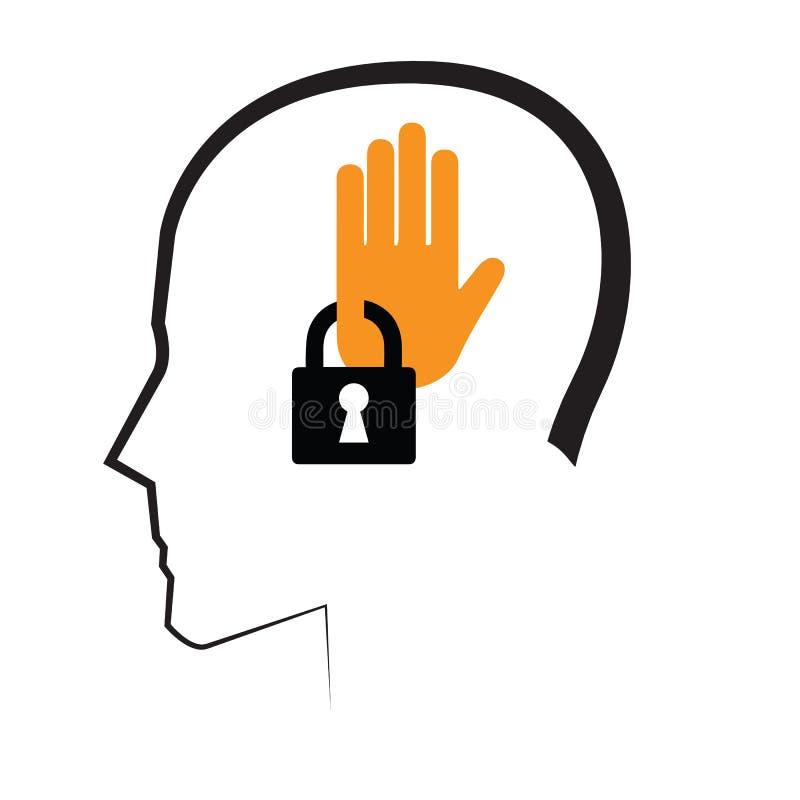 Conception de l'avant-projet mentale avec la clé illustration libre de droits