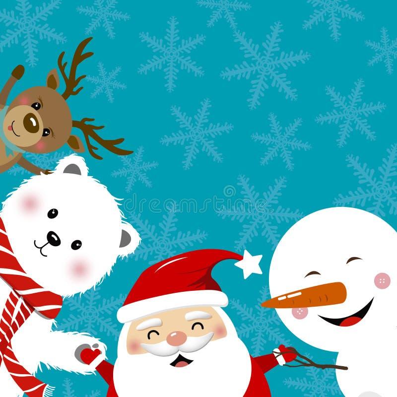 Conception de l'avant-projet de Noël illustration stock