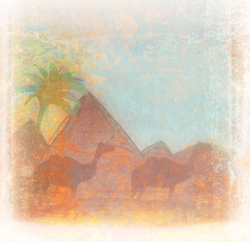 Conception de l'Egypte illustration de vecteur