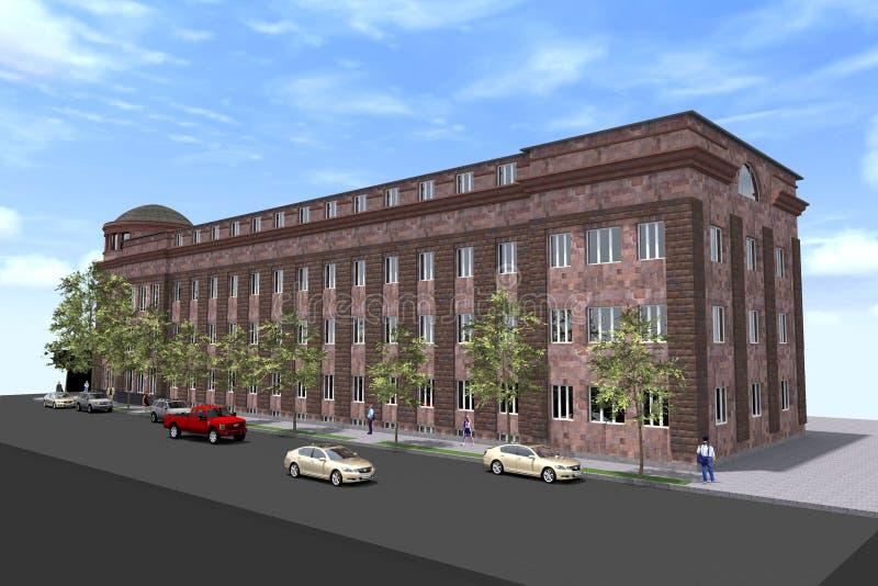 Conception de la construction de logements 3D illustration libre de droits