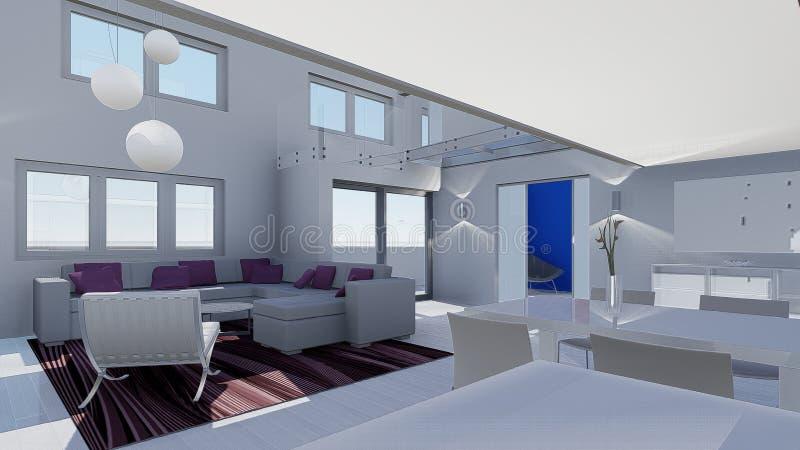 Download Conception de la maison 3d illustration stock. Illustration du intérieur - 45359840
