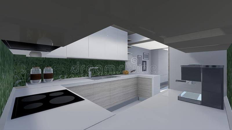 Download Conception de la maison 3d illustration stock. Illustration du cuisine - 45360095