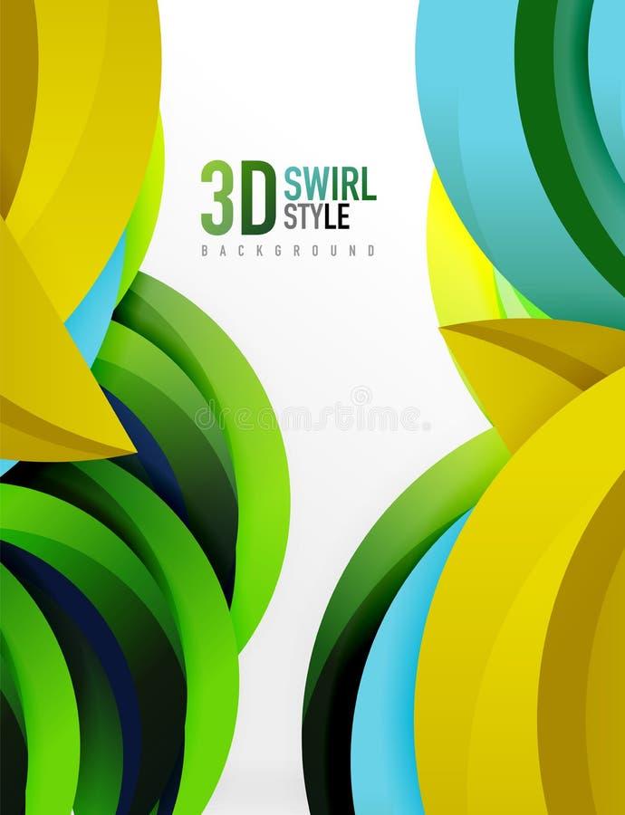 conception de la vague 3D illustration libre de droits