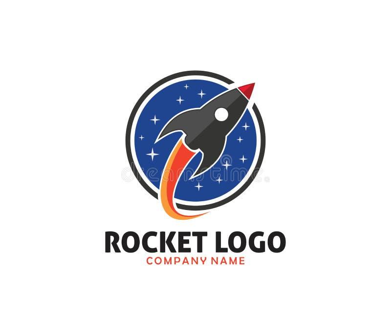 Conception de lancement de logo de technologie à l'avance de Rocket illustration libre de droits