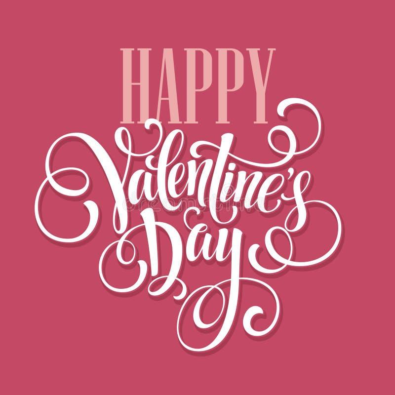 Conception de lettrage heureuse de dessin de main de jour de valentines illustration stock