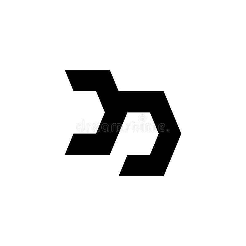 Conception de lettre de logo de densité double ou de DP illustration stock