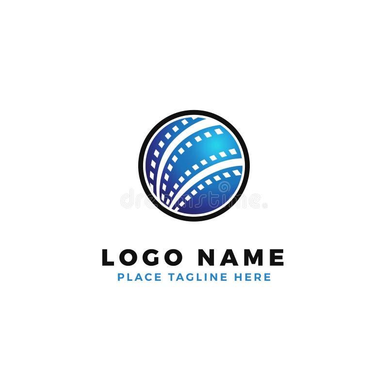 Conception de logo de bande de film du monde illustration internationale globale de production de cinématographie illustration libre de droits