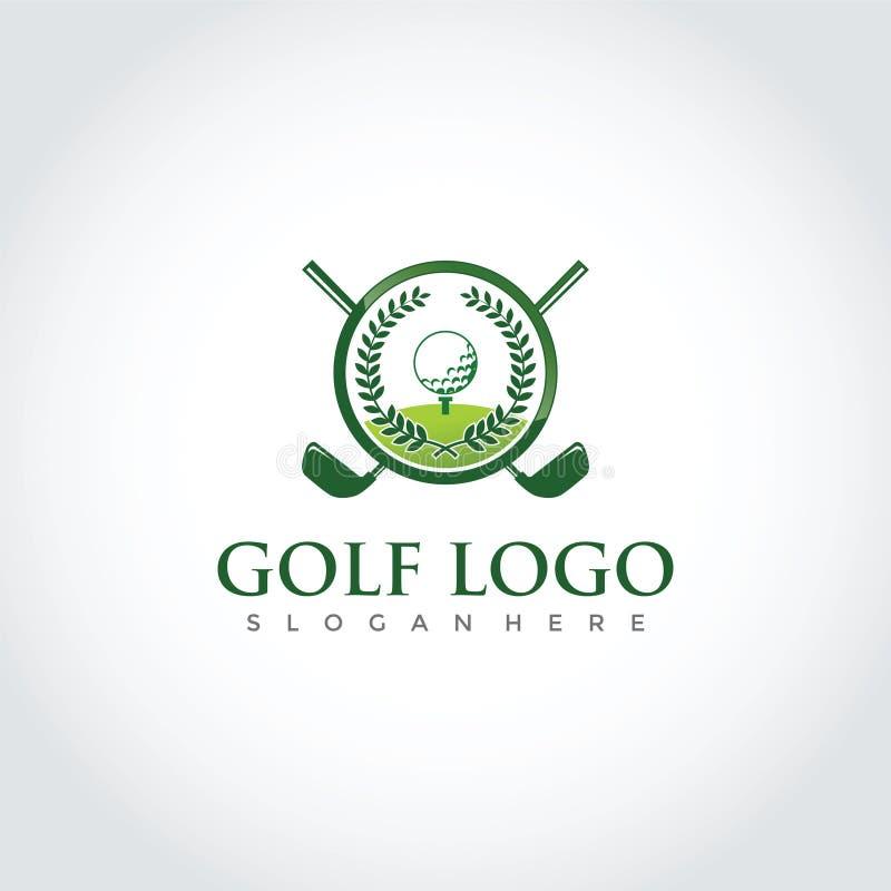 Conception de logo de club de golf Illustrateur ENV de vecteur 10 illustration libre de droits