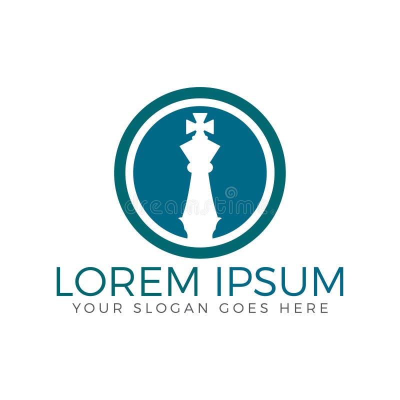 Conception de logo d'échecs illustration stock