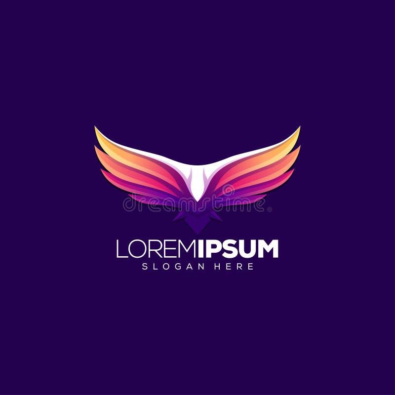 Conception de logo d'aigle d'illustration de vecteur illustration de vecteur