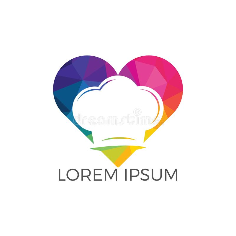 Conception de logo d'amour de nourriture illustration libre de droits