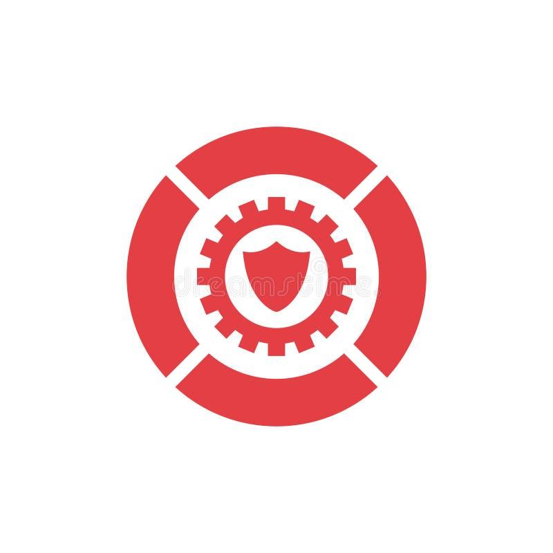 Conception de logo d'icône de vitesse et de bouclier d'illustration de vecteur illustration libre de droits