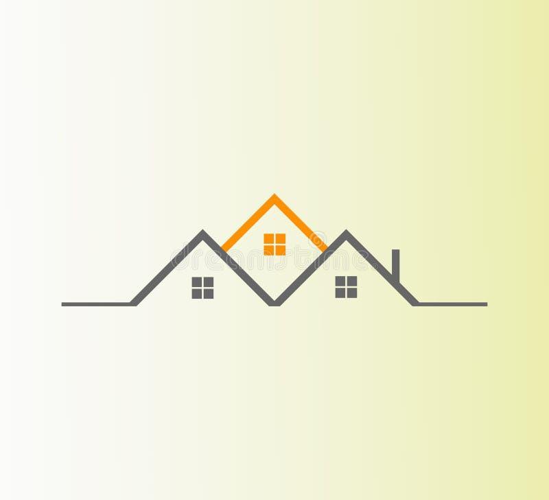 Conception de logo d'immobiliers de vecteur Le meilleur logo abstrait d'icône d'immobiliers illustration stock