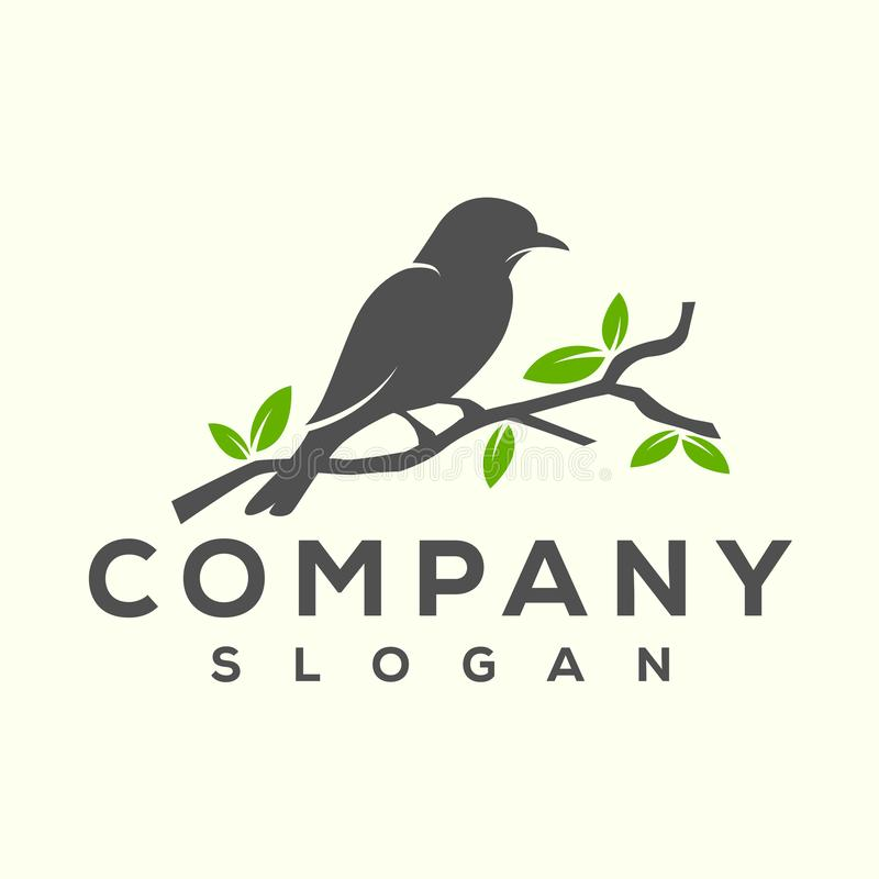 Conception de logo d'oiseau prête à employer pour votre société illustration stock