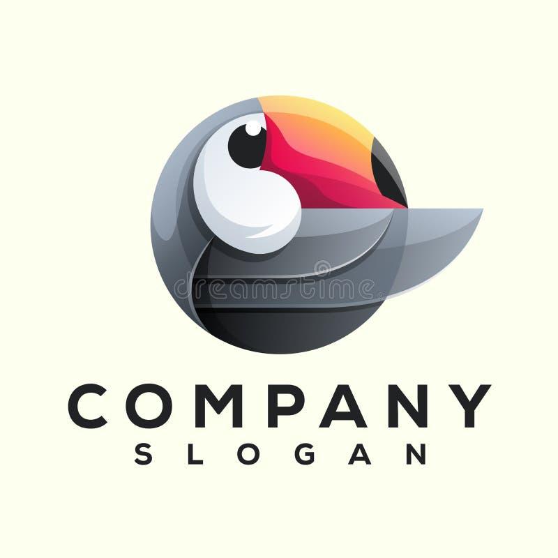 Conception de logo d'oiseau de toucan prête à employer illustration libre de droits