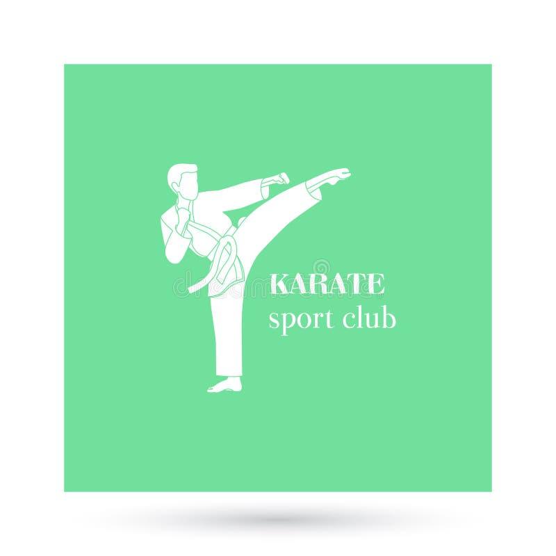Conception de logo de club de sport de karaté illustration de vecteur