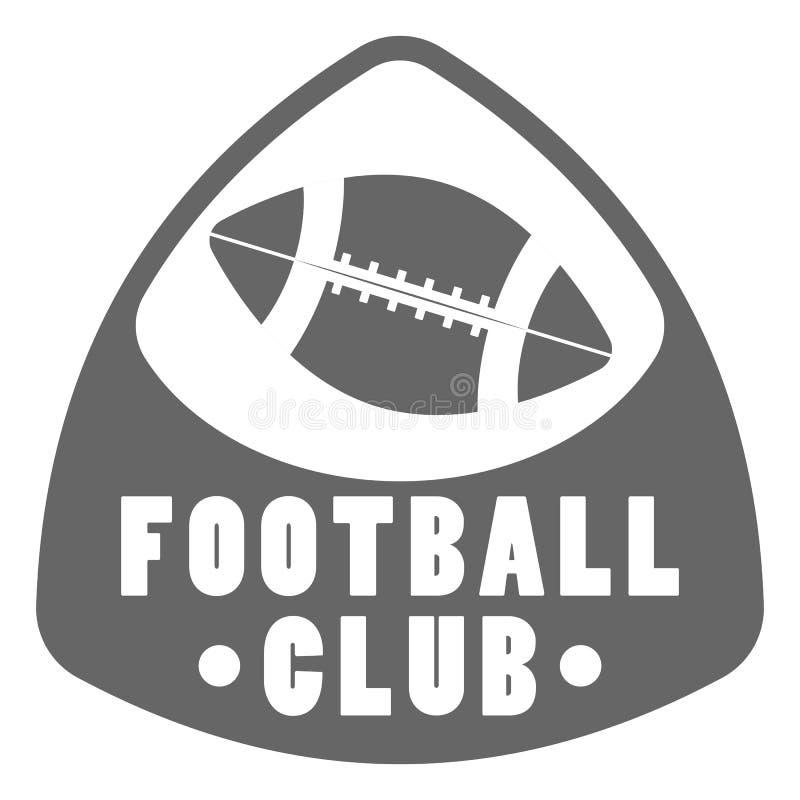 Conception de logo de football américain illustration stock