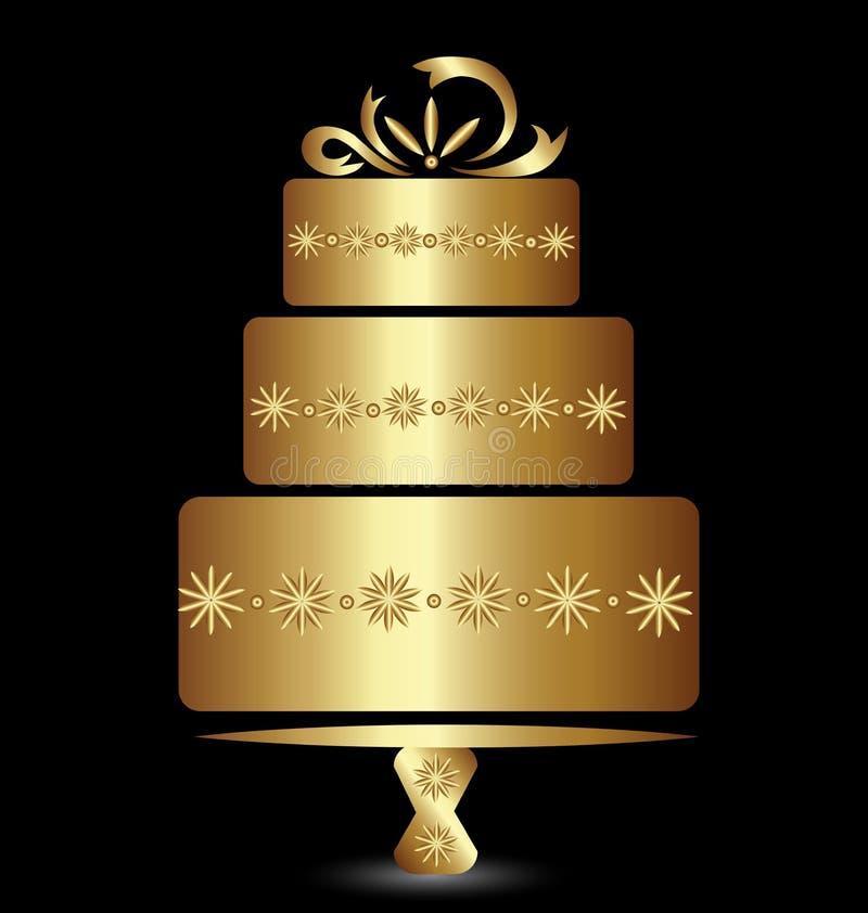 Conception de logo de gâteau illustration stock