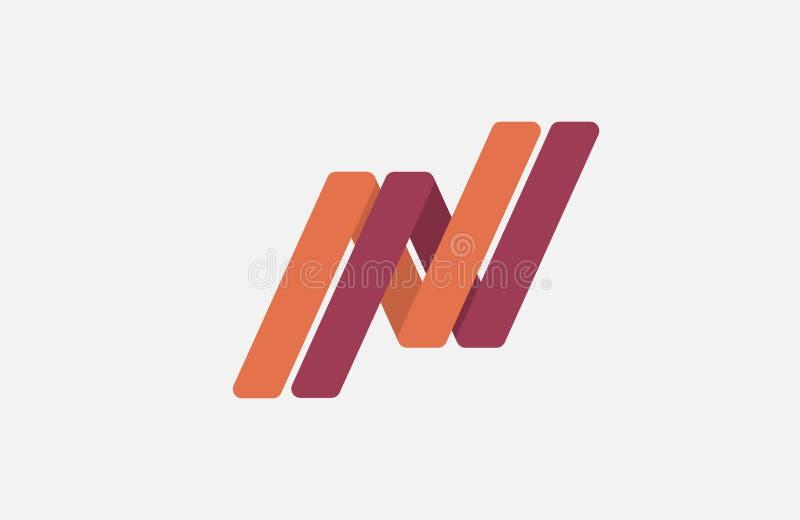 Conception de logo de lettre de N créateur photographie stock libre de droits