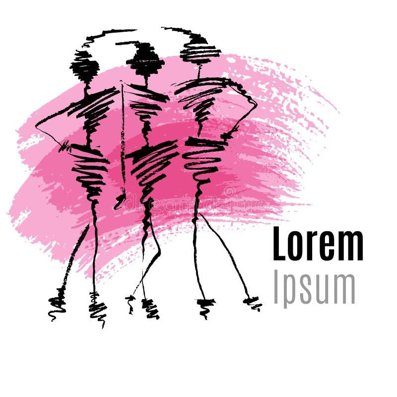 Conception de logo de mode illustration libre de droits