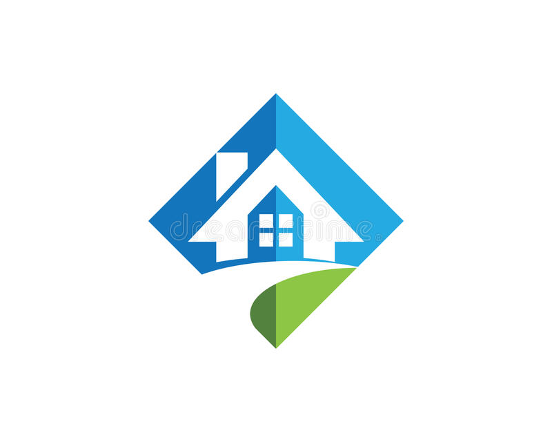 Conception de logo de Real Estate, de propriété et de construction illustration libre de droits
