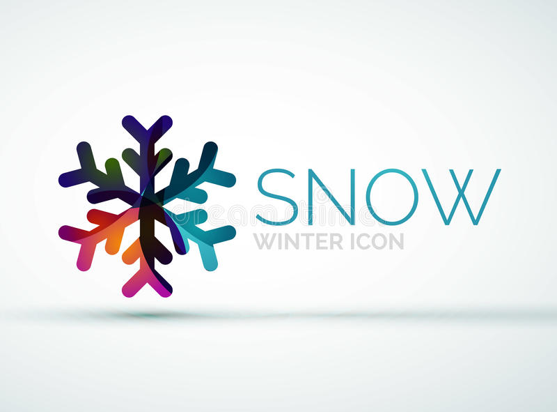 Conception de logo de société de flocon de neige de Noël illustration stock