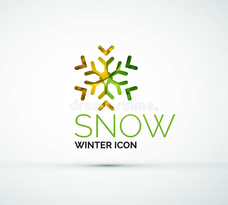 Conception de logo de société de flocon de neige de Noël illustration libre de droits
