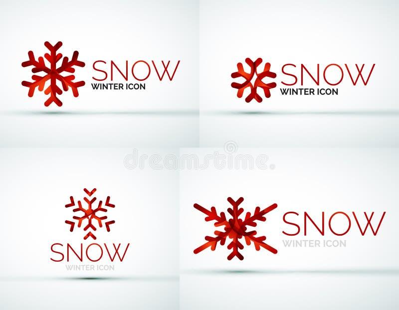 Conception de logo de société de flocon de neige de Noël illustration de vecteur