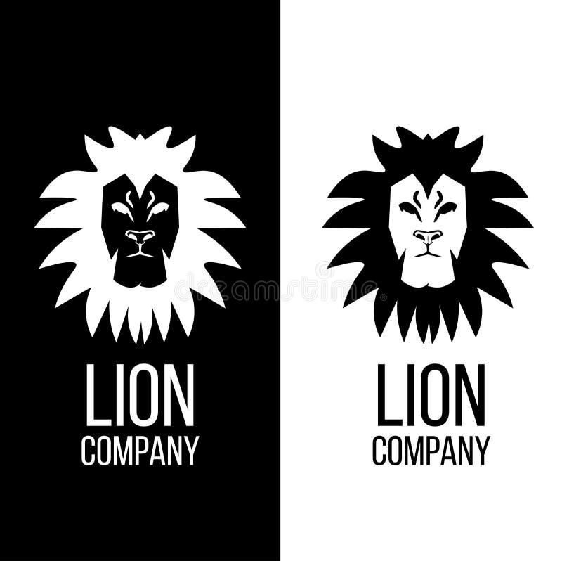 Conception de logo de tête de lion de Lelegant images stock