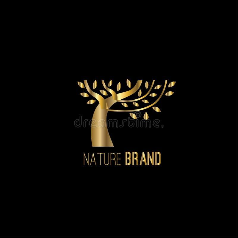 Conception de logo de vecteur d'arbre illustration de vecteur