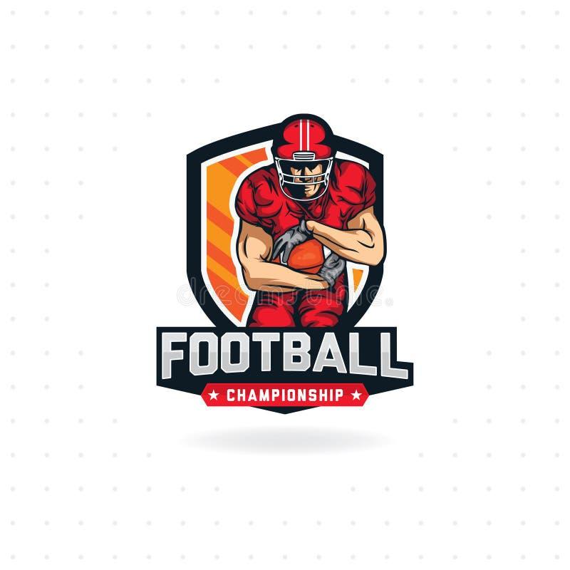Conception de logo de football am?ricain illustration de vecteur