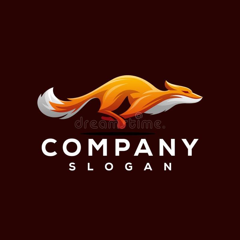 Conception de logo de Fox prête à employer illustration stock