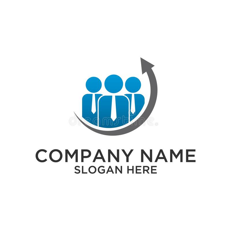 Conception de logo de groupe de Cpital illustration de vecteur