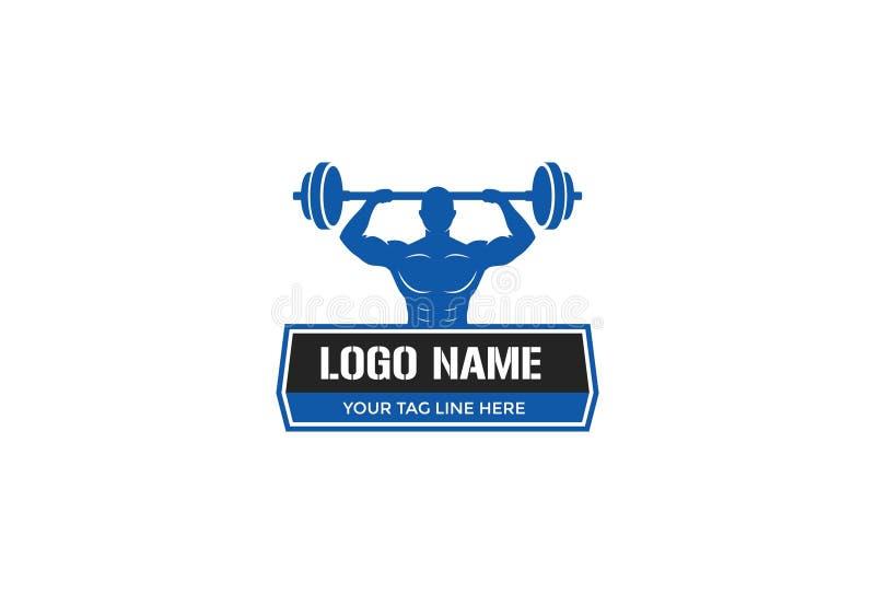 Conception de logo de gymnase de forme physique de sport illustration de vecteur