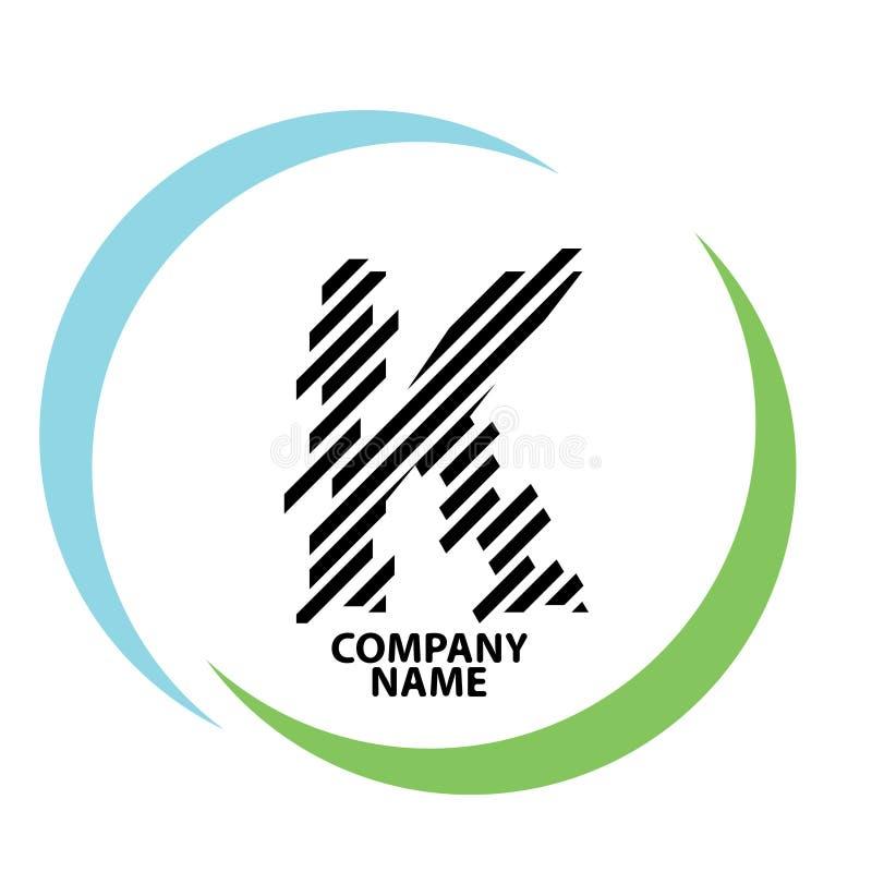 Conception de logo de lettre de K illustration stock