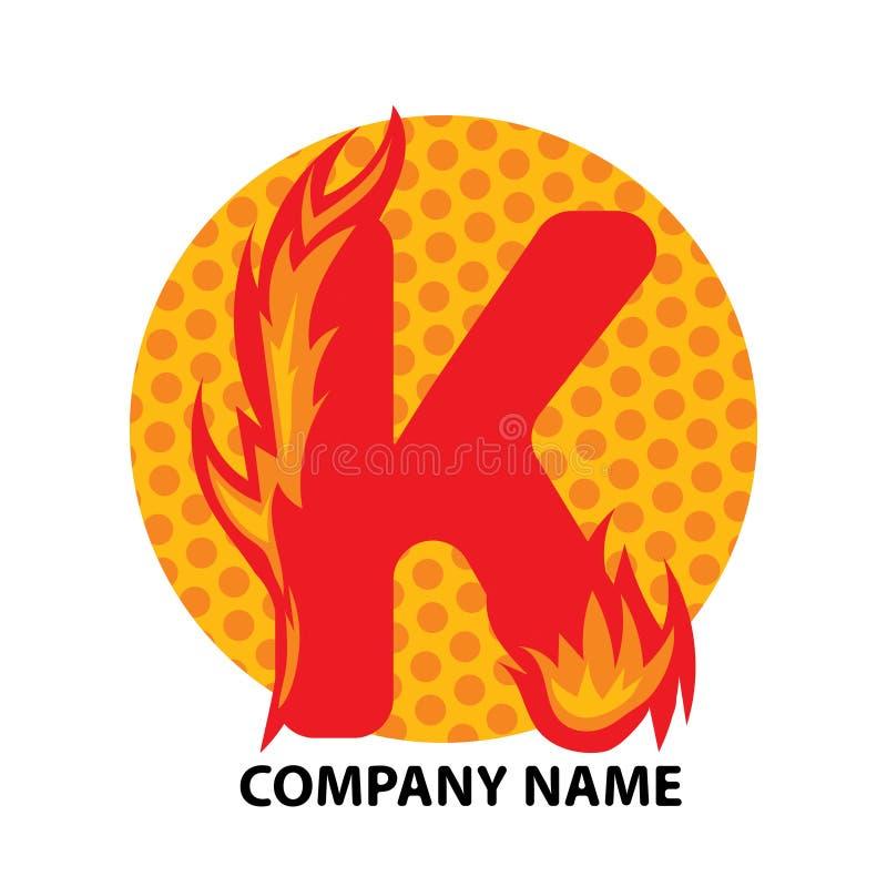 Conception de logo de lettre de K illustration de vecteur