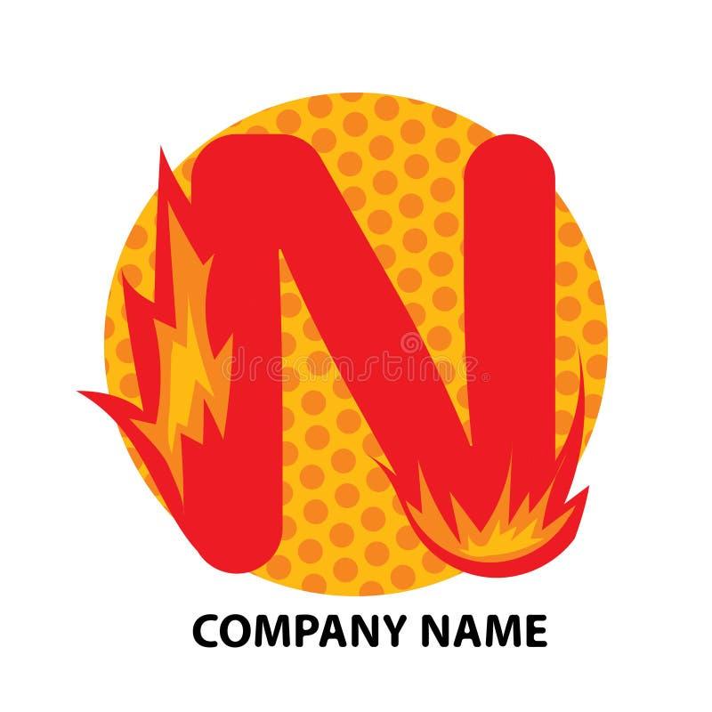 Conception de logo de lettre de N illustration libre de droits