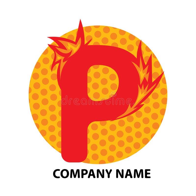 Conception de logo de lettre de P illustration de vecteur