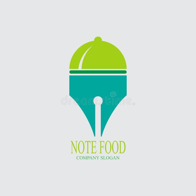 Conception de logo de nourriture de note illustration libre de droits