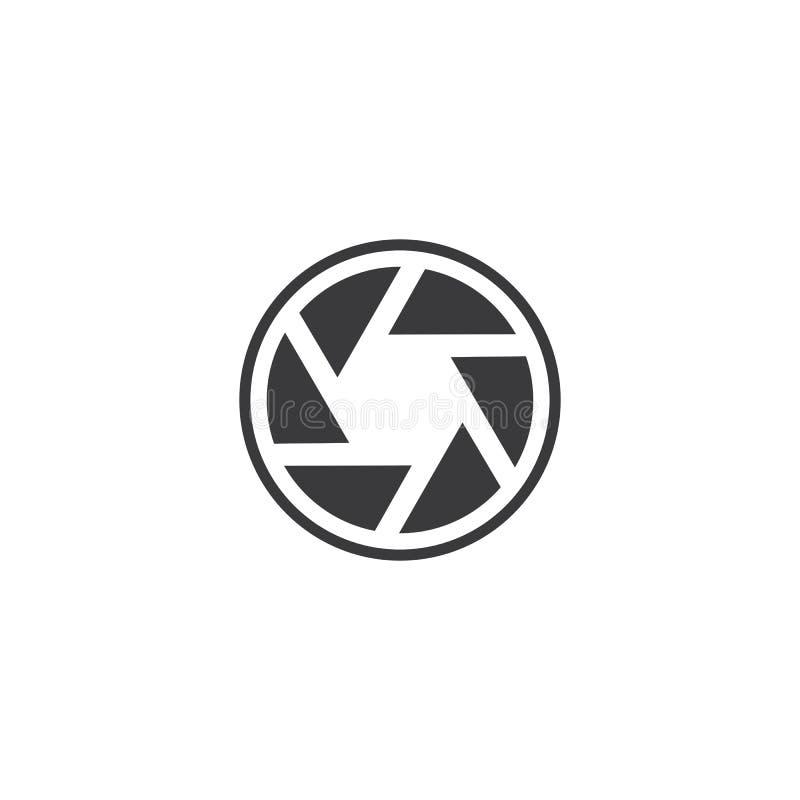 Conception de logo de photographie illustration stock