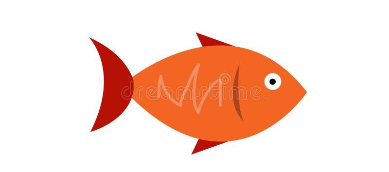 Conception de logo de poissons illustration de vecteur