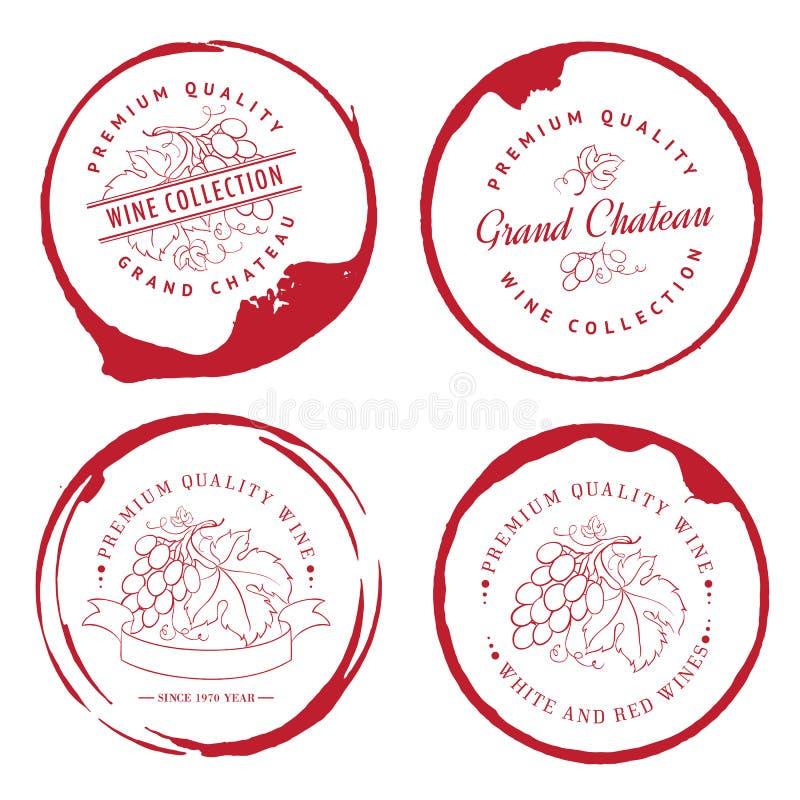 Conception de logo pour le vin illustration de vecteur
