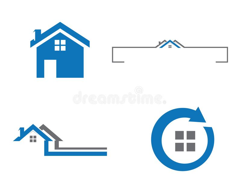 Conception de logo de propriété et de construction illustration stock